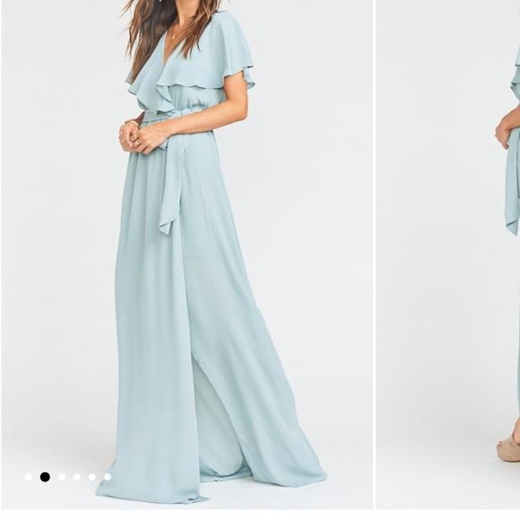Show Me Your MuMu Dresses & Skirts - Show Me Your Mumu Bridesmaid Dress - Silver Sage